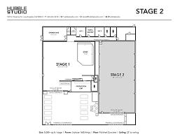 stage floor plan hubble studio stage 2