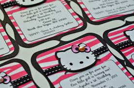 jingvitations hello kitty zebra pink and black birthday