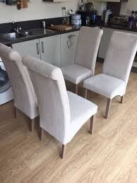 Next Dining Chairs Next Set Of 4 Harlow Dining Room Chairs In Belgian Soft Twill In