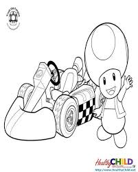 mushroom racing super mario coloring pages