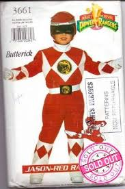 Butterick Halloween Costume Patterns Costume U0026 Apron Vintage Sewing Patterns Power Ranger