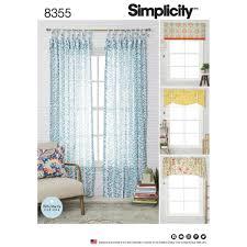 simplicity pattern 8355 window treatments fits windows 39 1 2
