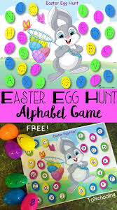 printable alphabet recognition games easter egg hunt alphabet game free printable letter tracing