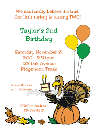 turkey thanksgiving birthday card details