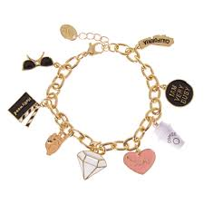 themed charm bracelet gold tone themed charm bracelet s us
