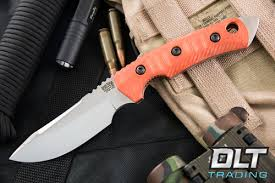 unique kitchen knives bark river knives tier 1 mini cpm 154 blaze orange g 10