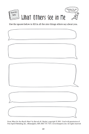 free printable worksheet for counselors what others see in