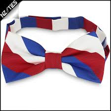 white and blue bows white blue stripes mens bow tie nz ties