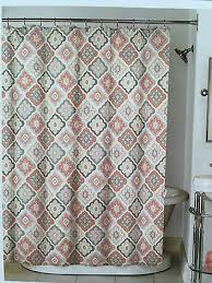 Coral And Gray Curtains 89 And Gray Shower Curtain Pink And Gray Chevron Stripes