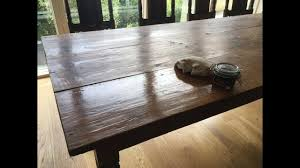 Site Table by On Site Wax Polishing An Oak Table In Salcombe South Devon Youtube