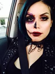 Halloween Makeup Dia De Los Muertos Simple Day Of The Dead Make Up Sf Halloween Make Up Pinterest