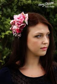 flower headpiece pink flowers petit jardin headpiece chocola
