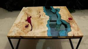 live edge river table epoxy sold live edge river coffee table with red epoxy inlay sold