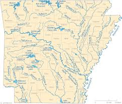 of arkansas cus map map of arkansas lakes streams and rivers