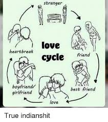 Heart Break Memes - heartbreak boyfriend girlfriend stranger love cycle friend best