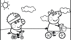 peppa pig coloring pictures print pages printable pdf play