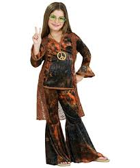 halloween costume kids woodstock diva brown costume kids costume hippie halloween