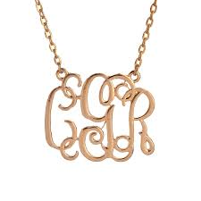 Monogrammed Necklace Necklace Cluster Picture More Detailed Picture About Sale