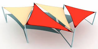 triangular sail shade structure shade structures pinterest