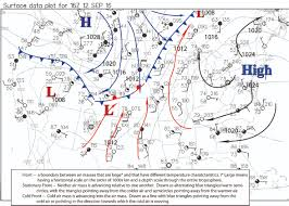Weather Fronts Map Past Lecture Topic Links For Fall 2016