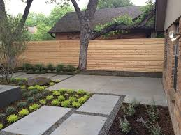 Backyard Fence Ideas Backyard Fence Ideas Landscape Contemporary With Bark Mulch Basalt