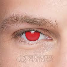 blind halloween 90 day red coloured contact lenses coloured