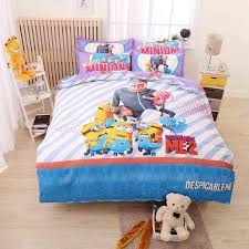 Mickey Mouse Queen Size Bedding Cartoon Mermaid Bedding Set For Kid Gift 4pcs Minions
