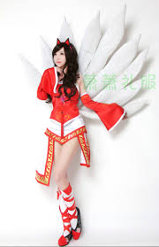 league of legends cosplay costumes ahri the nine tails fox costume