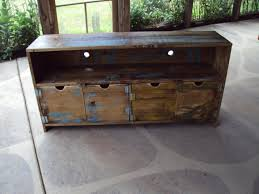 Shabby Chic Entertainment Center by 48 Inch Wide Old Barn Wood Look Tv Cabinet Storage Bench Shabby
