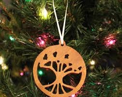 cherry wood ornament etsy