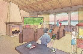 watercolor interior architectural renderings architectural