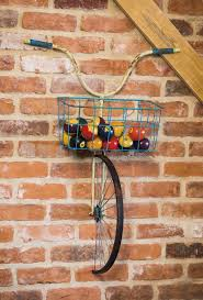 front basket metal bicycle and planter wall decor products