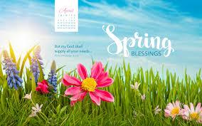 april 2016 blessings desktop calendar free april wallpaper