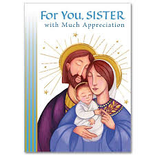 for you sister with much appreciation christmas card for