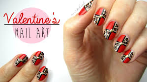 nail art for valentine u0027s day leopard blocking youtube