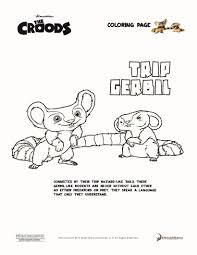 trip gerbil the croods coloring pages hellokids com