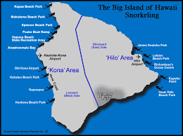 map of hawaii big island big island snorkeling map owner direct vacation rentals inc