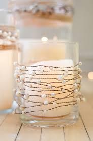 pearl wire garland wedding rustic wedding decor