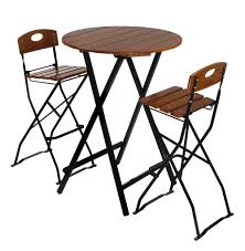 Patio Furniture Bar Height Set - round bar height table stools jpg