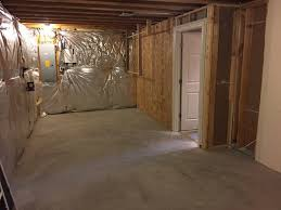 basement walls already insulated with foil backed fiberglass ok