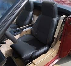 corvette seat covers c4 chevy corvette c4 standard 1984 1993 black leather like custom
