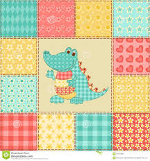 crocodile patchwork pattern stock vector image 34616868