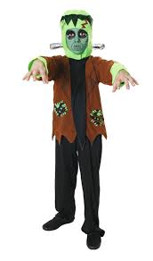 Halloween Monster Costumes by Frankenstein Monster Halloween Fancy Dress Costume Ages 7 11 Years
