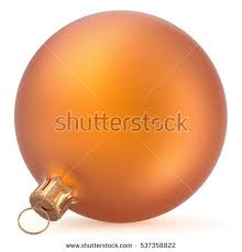 New Years Eve Hanging Decorations by Christmas Ball Decoration Orange Golden New Stock Illustration