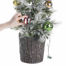 decorated pre lit tabletop artificial christmas tree christmas
