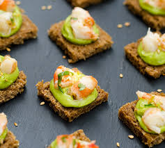 guacamole and shrimps toasts recipe eatwell101