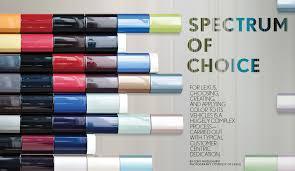 lexus color color design spectrum of choice design innovation lexus