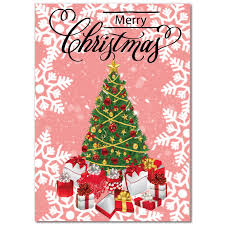 christmas tree greeting card holiday party invitations