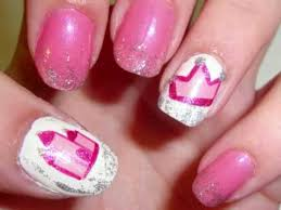 this pink princess nail art is perfect the next time your little