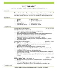 Call Center Agent Resume Sample Download Customer Service Representative Resume Sample